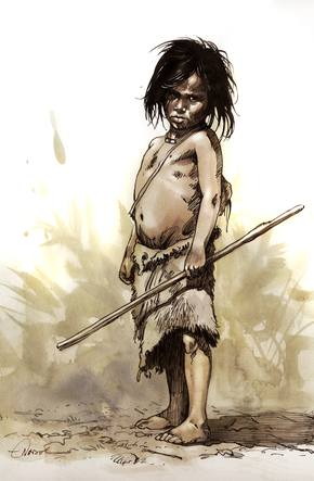 Enfant Cro-Magnon - Illustration M.-O. Nadel
